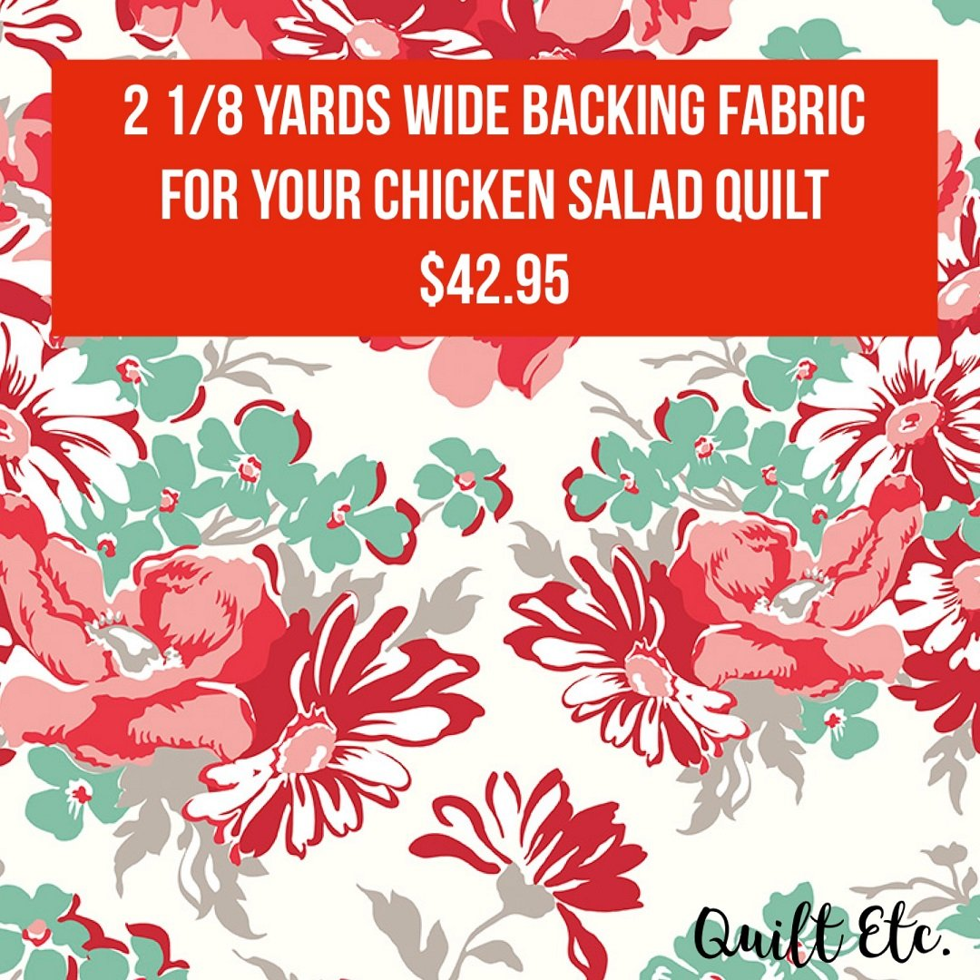PREORDER Chicken Salad 108 Wide Backing Fabric