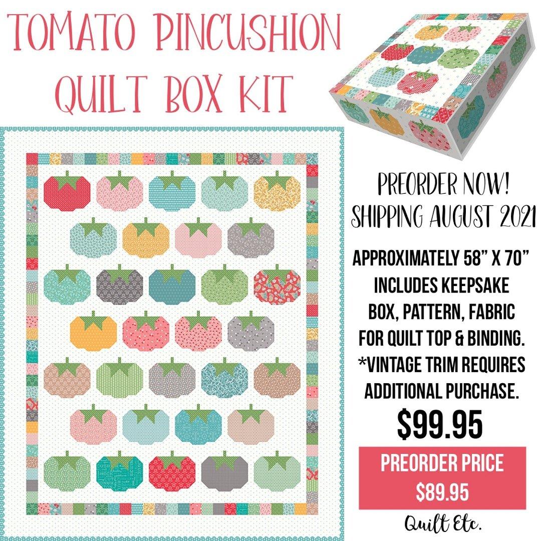 PREORDER Tomato Pincushion Quilt Box Kit