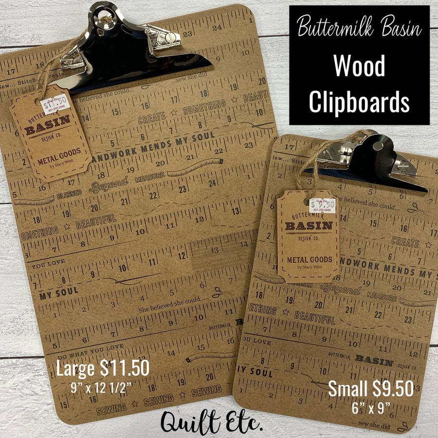 Wood Ruler Clipboards