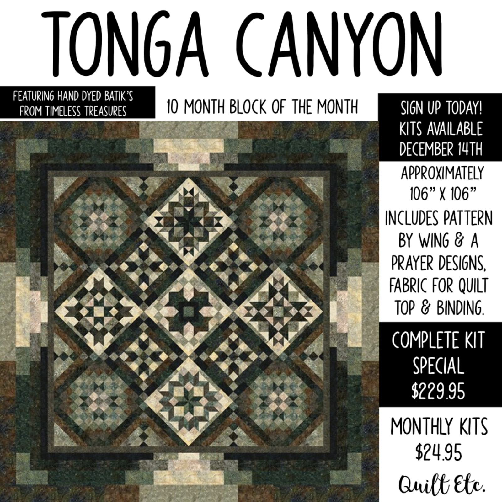 Tonga Canyon Block Of The Month
