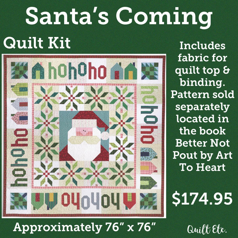 Better Not Pout Santa's Coming Quilt Kit