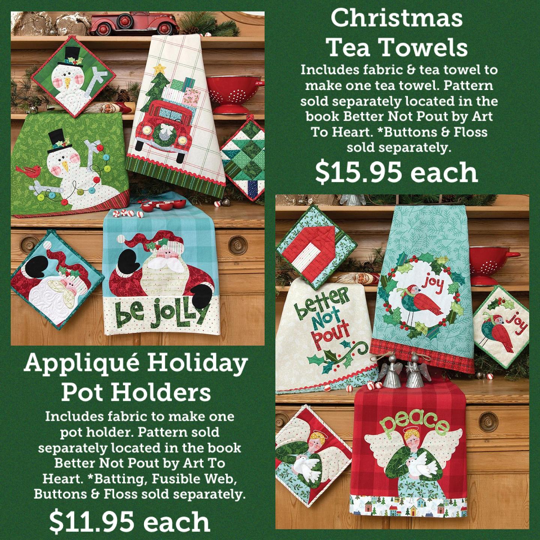 Better Not Pout Christmas Tea Towel Kits