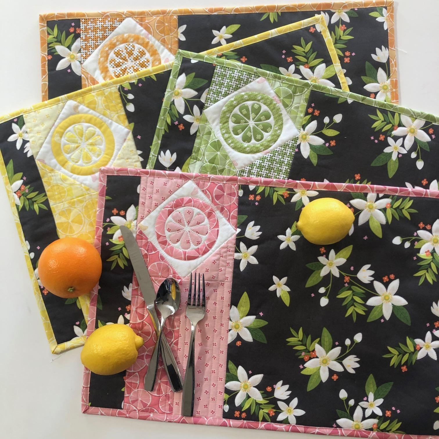 Juicy Jems Placemats Pattern