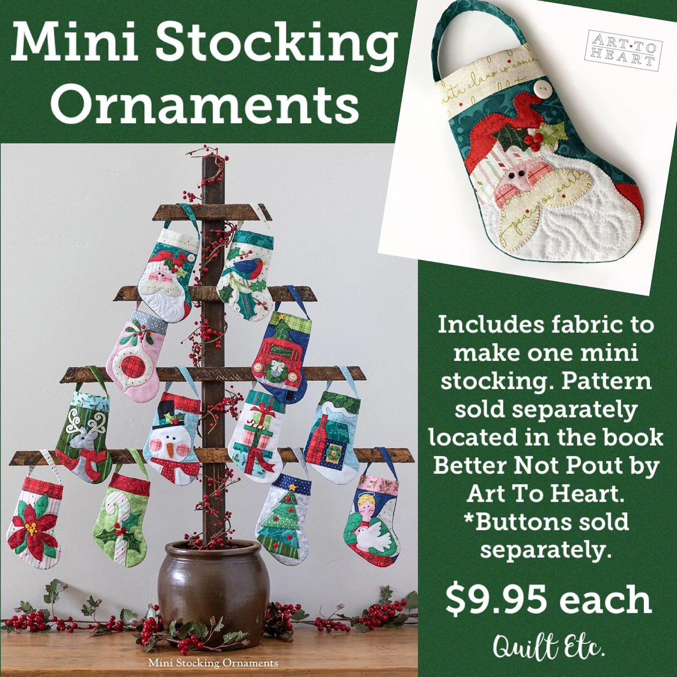 Better Not Pout Mini Stocking Ornaments