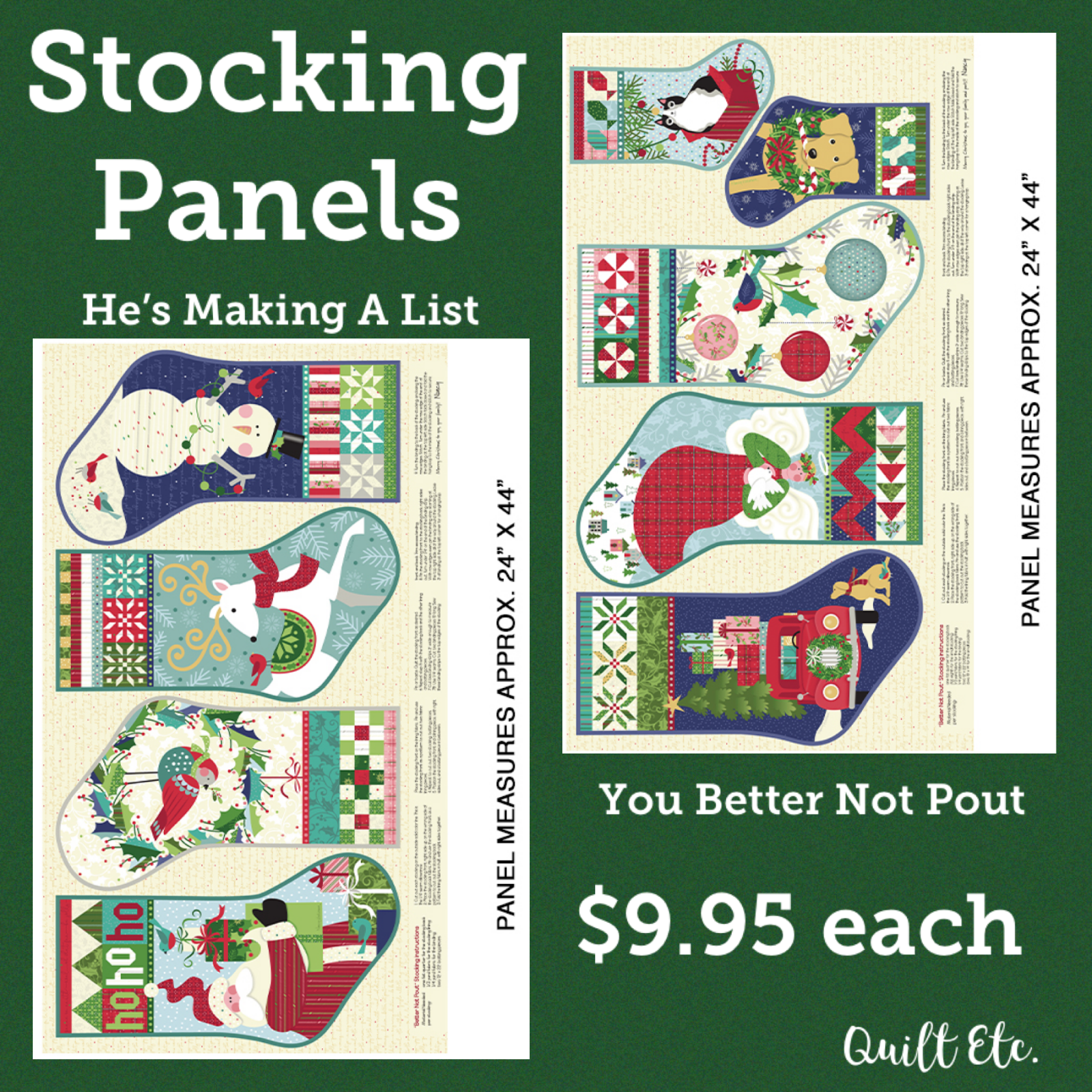 Better Not Pout Stocking Panels