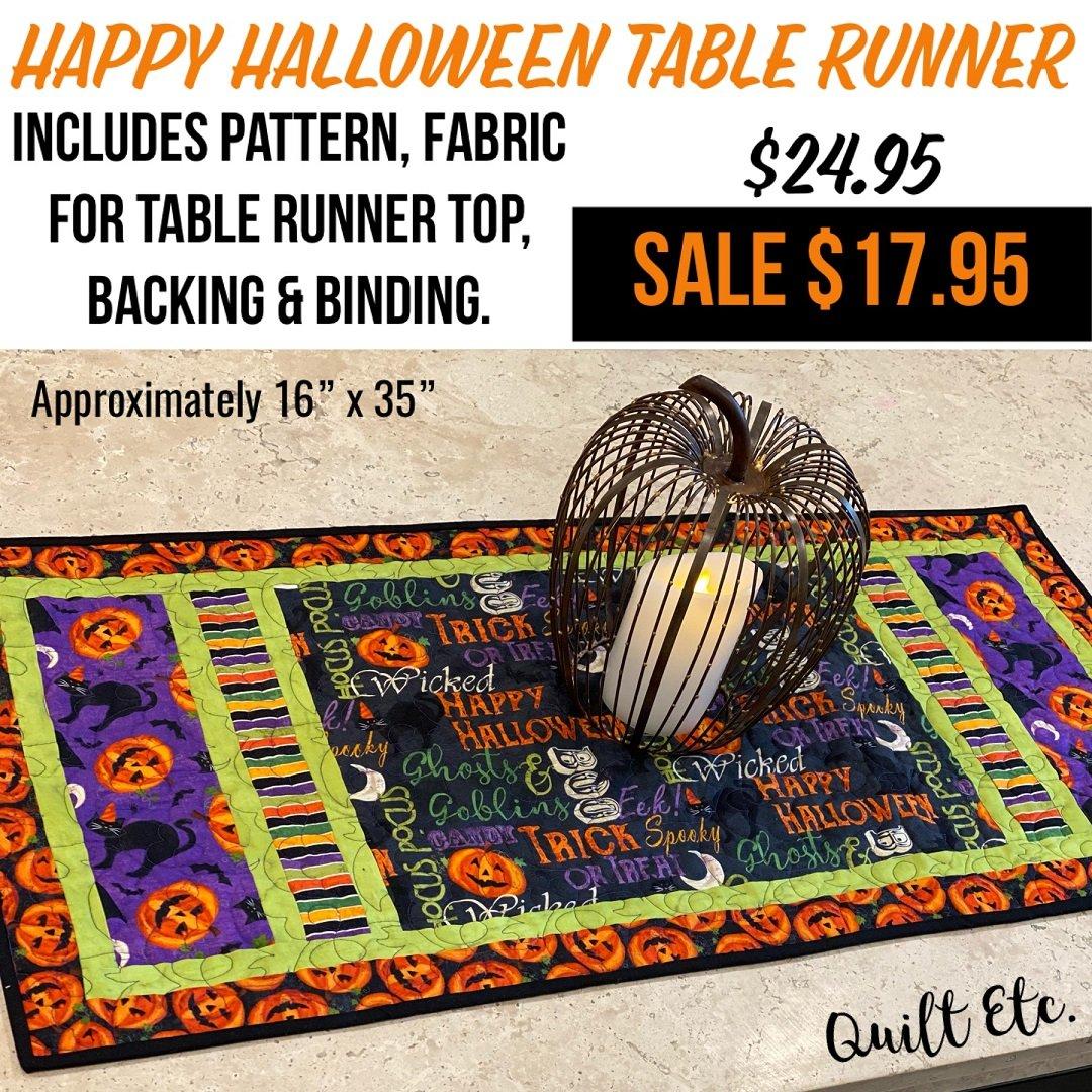 Happy Halloween Table Runner