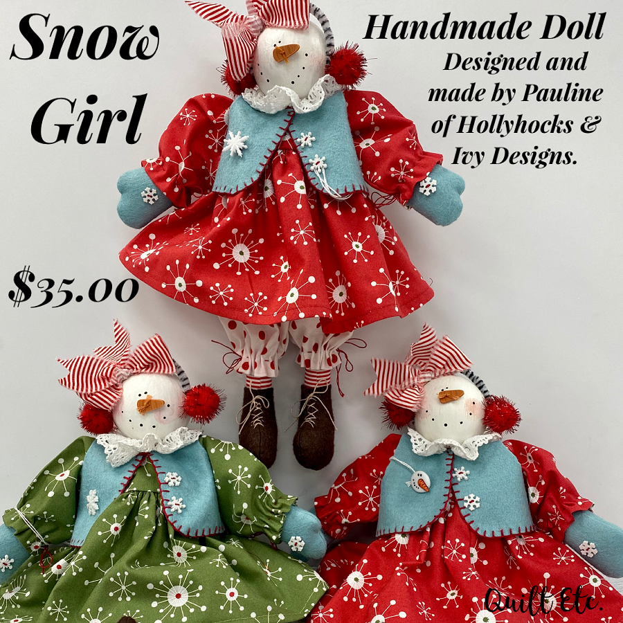 Handmade Winter Dolls - Finished