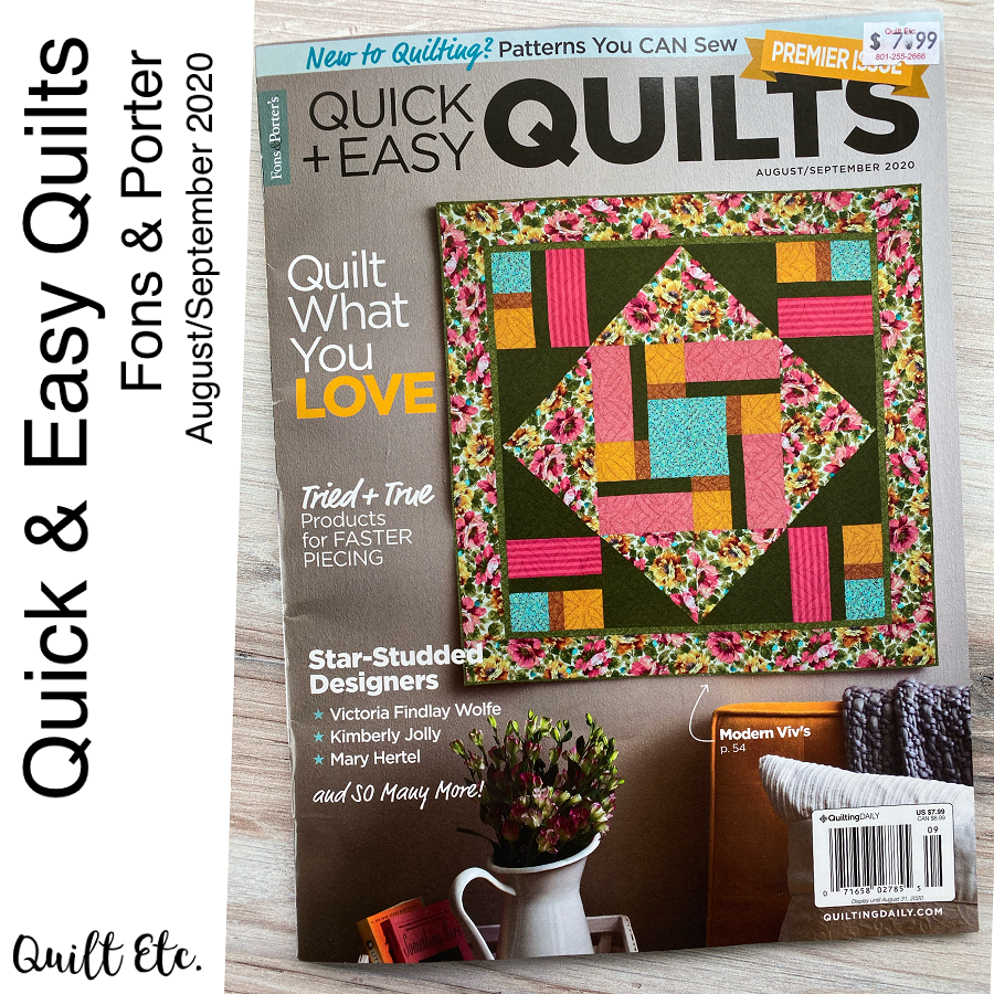 Quick & Easy Quilts August/September 2020