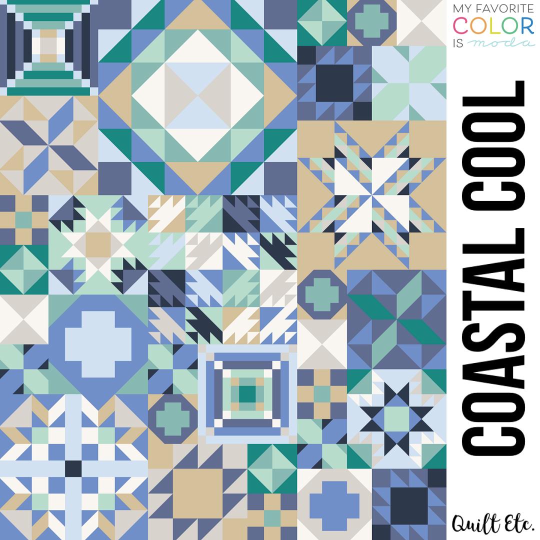 Coastal Cool - My Favorite Color Is Moda Sampler