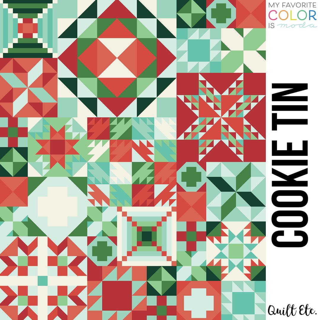 Cookie Tin - My Favorite Color Is Moda Sampler