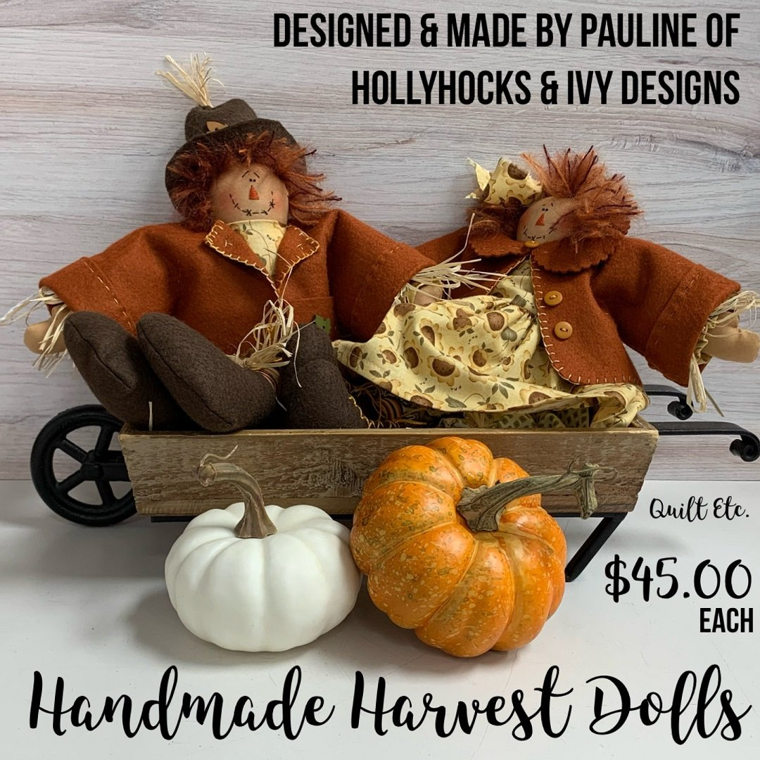 Handmade Harvest Dolls