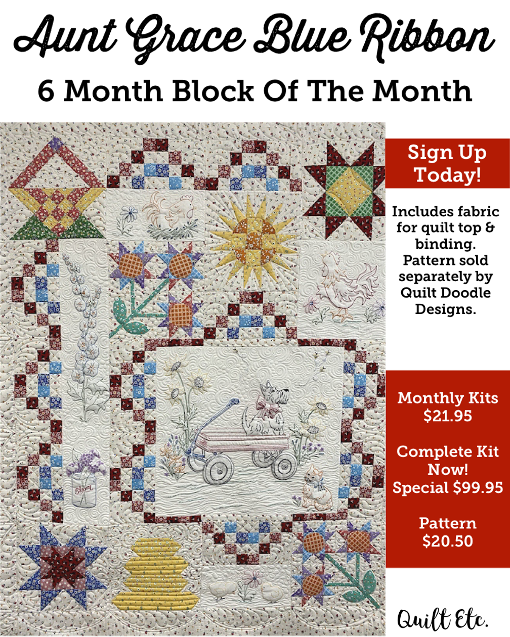 Aunt Grace Blue Ribbon Block Of The Month