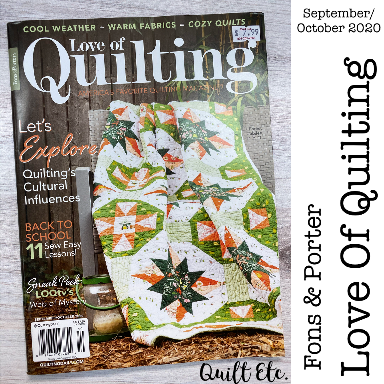 Love Of Quilting Magazine September/October 2020