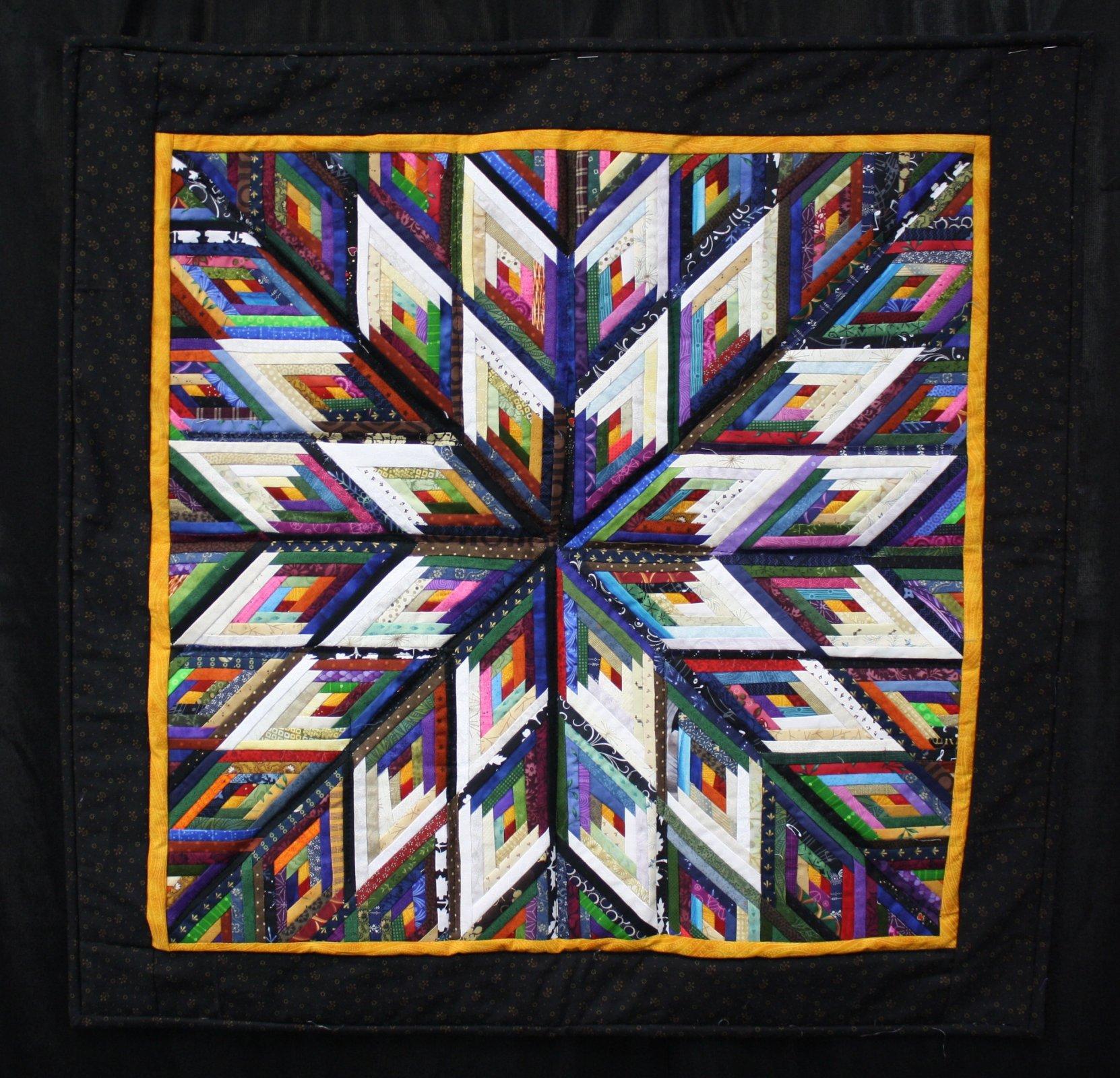 Diamond Log Cabin : log cabin diamond quilt pattern - Adamdwight.com