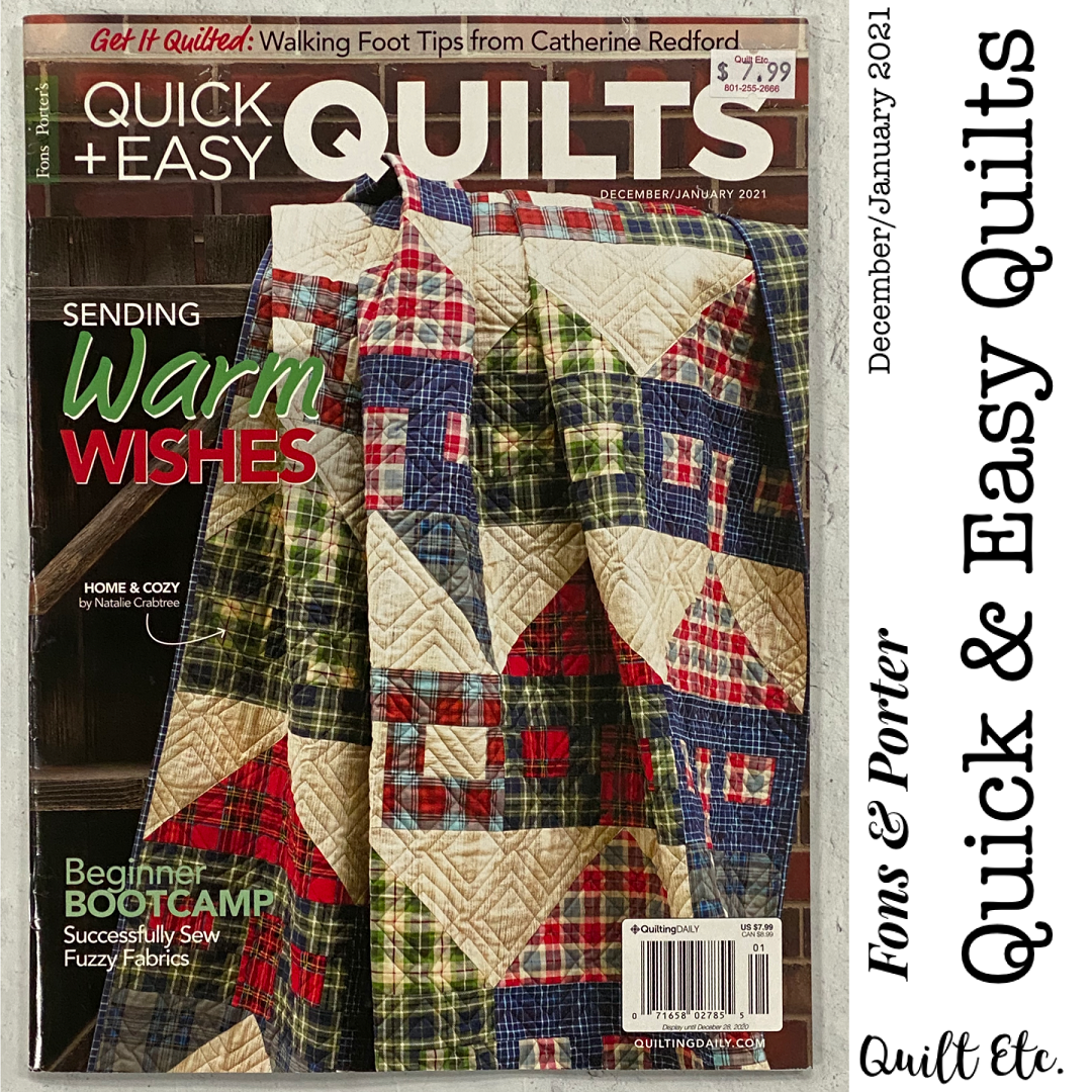 Quick & Easy Quilts December/January 2021