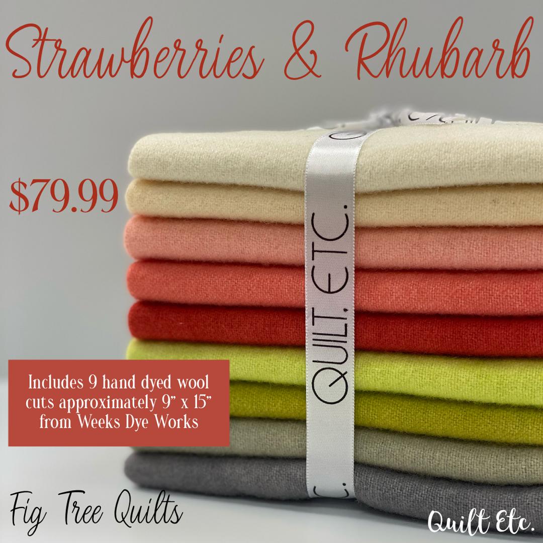 Strawberries & Rhubarb Wool Bundle