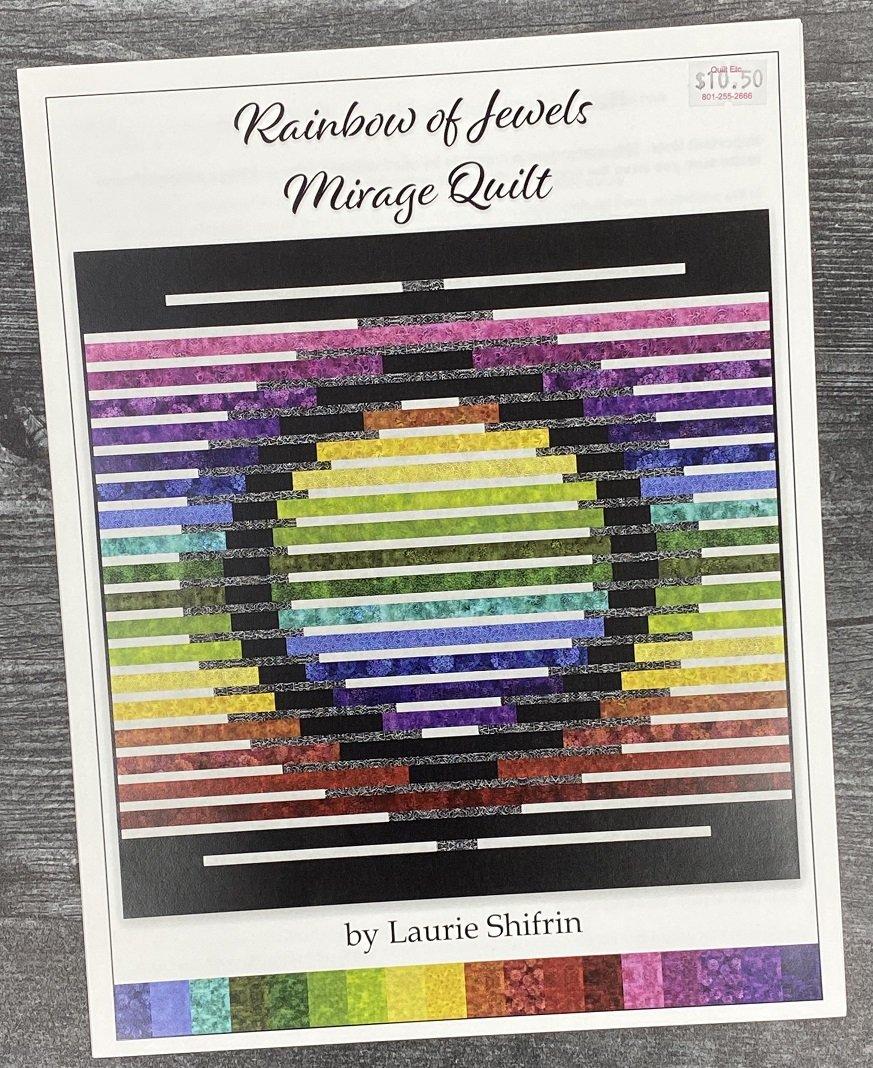 Rainbow Of Jewels Mirage Quilt Pattern
