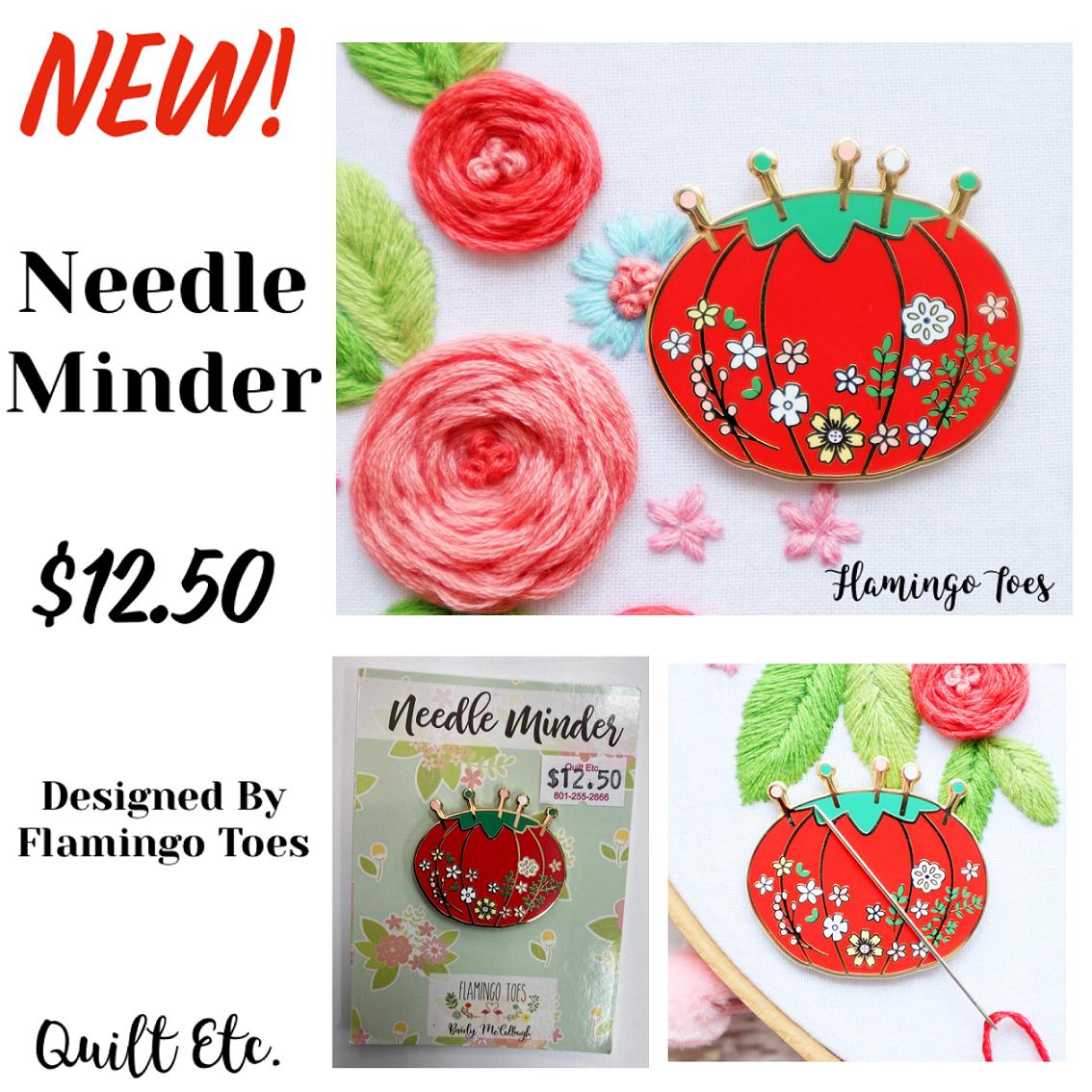 Floral Pincushion Needle Minder