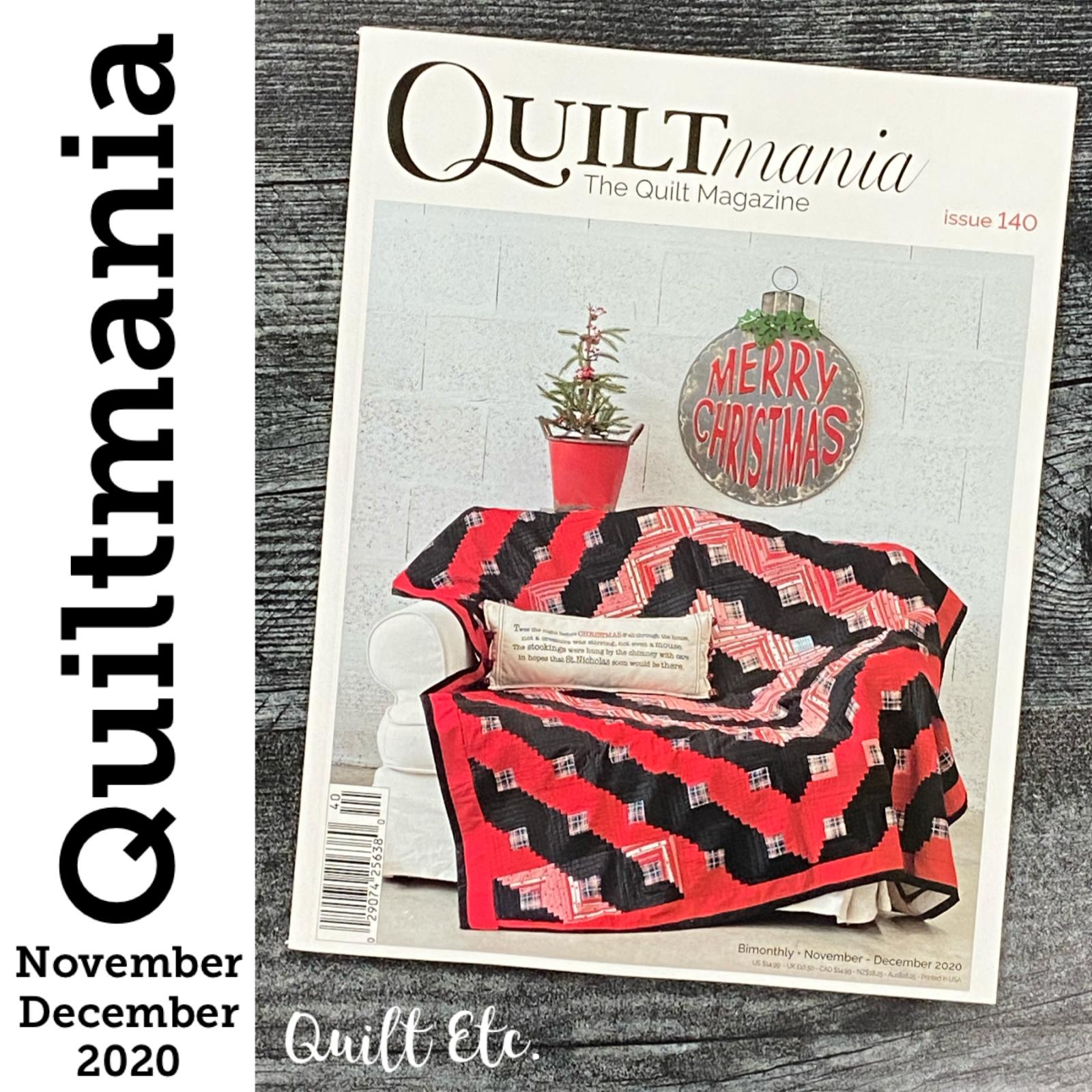 Quiltmania Magazine Issue 140 November/ December 2020