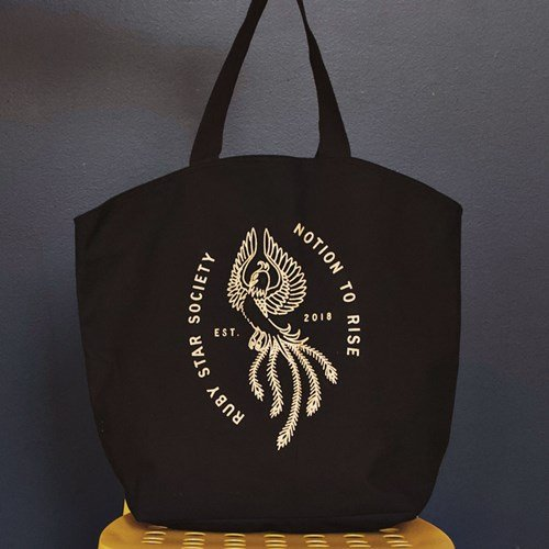 Ruby Star Tote Bag