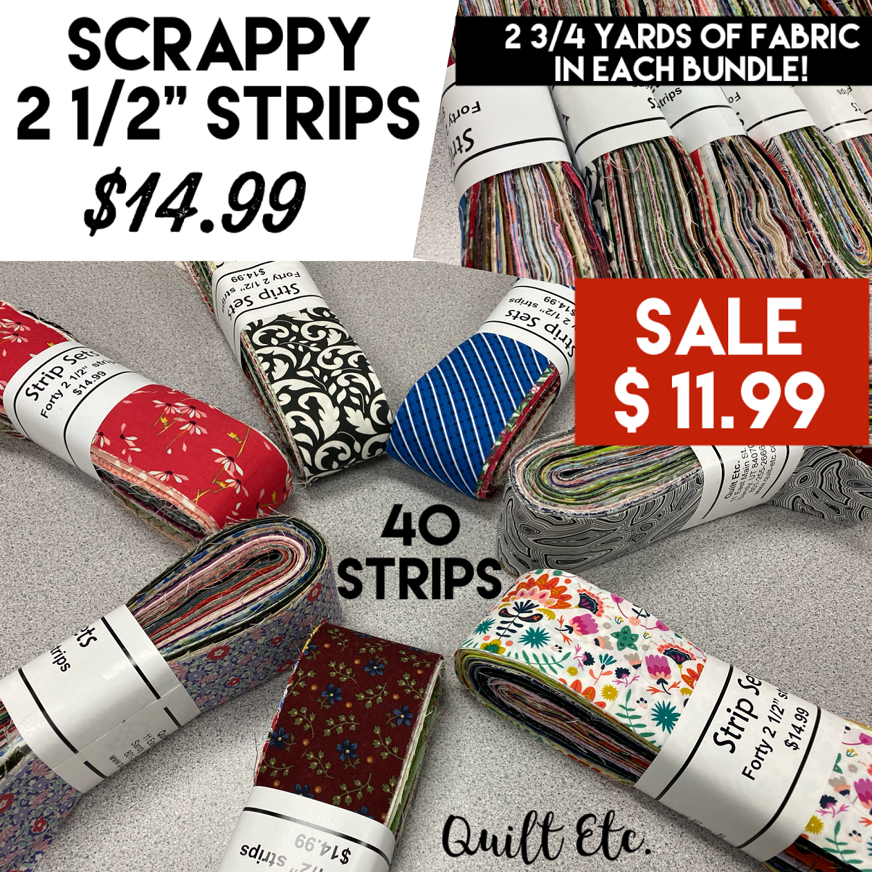 Scrappy 2 1/2 Strips