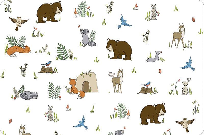 Minky Cuddle 60 Wide Digital - Woodland Pals