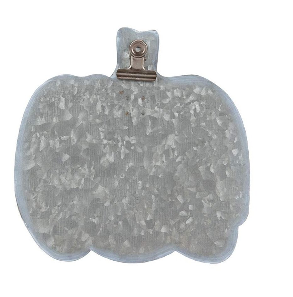 Metal Easel Pumpkin