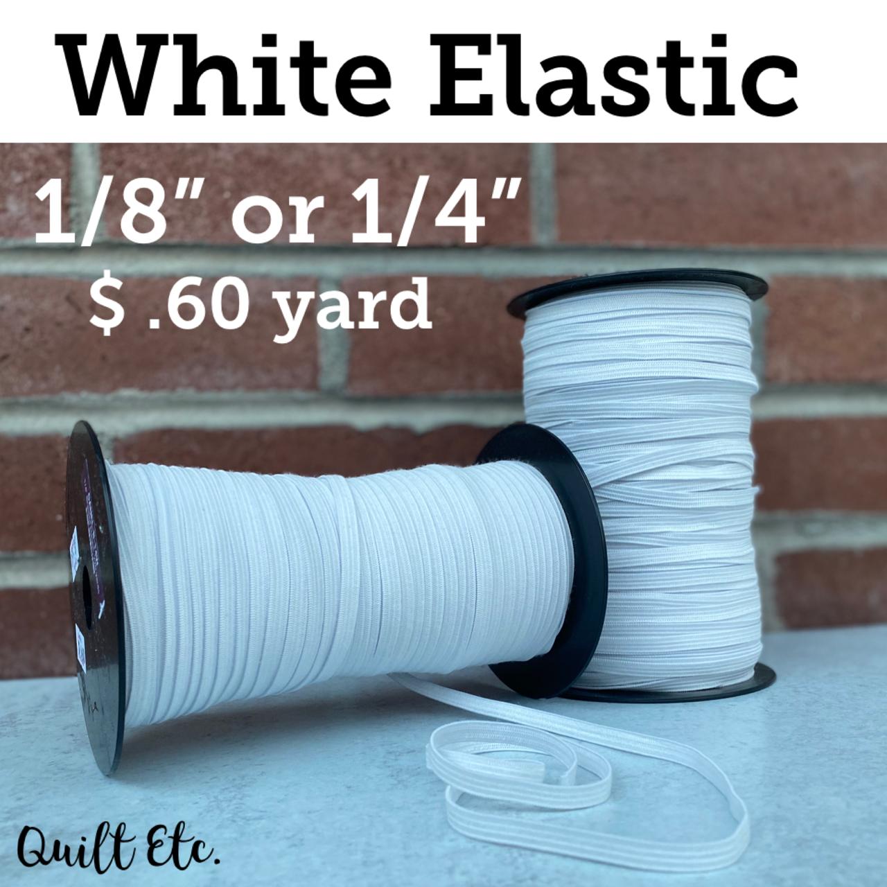 White Elastic 1/8 & 1/4