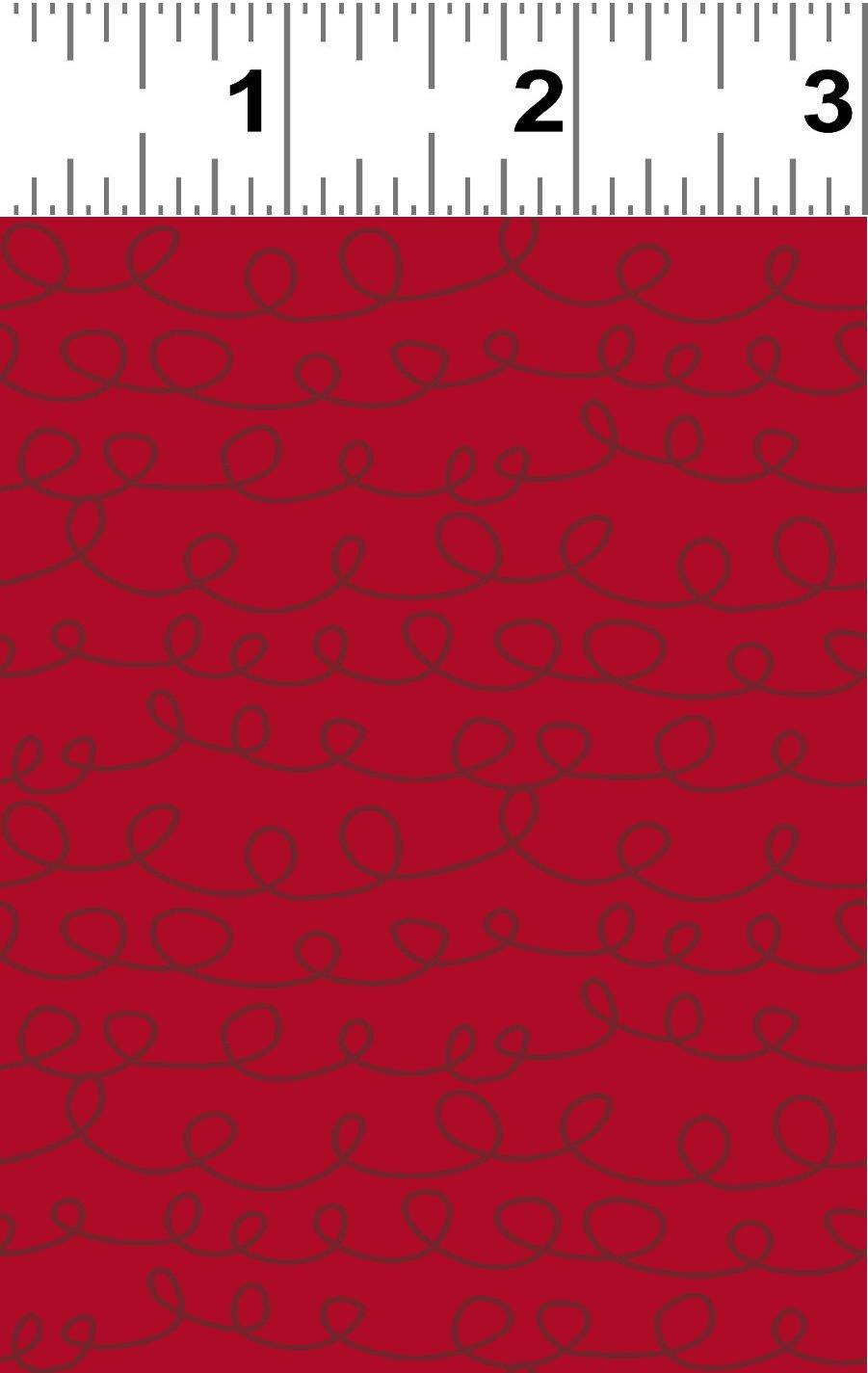 Yuletide Curly Cue Y3287-82 Red