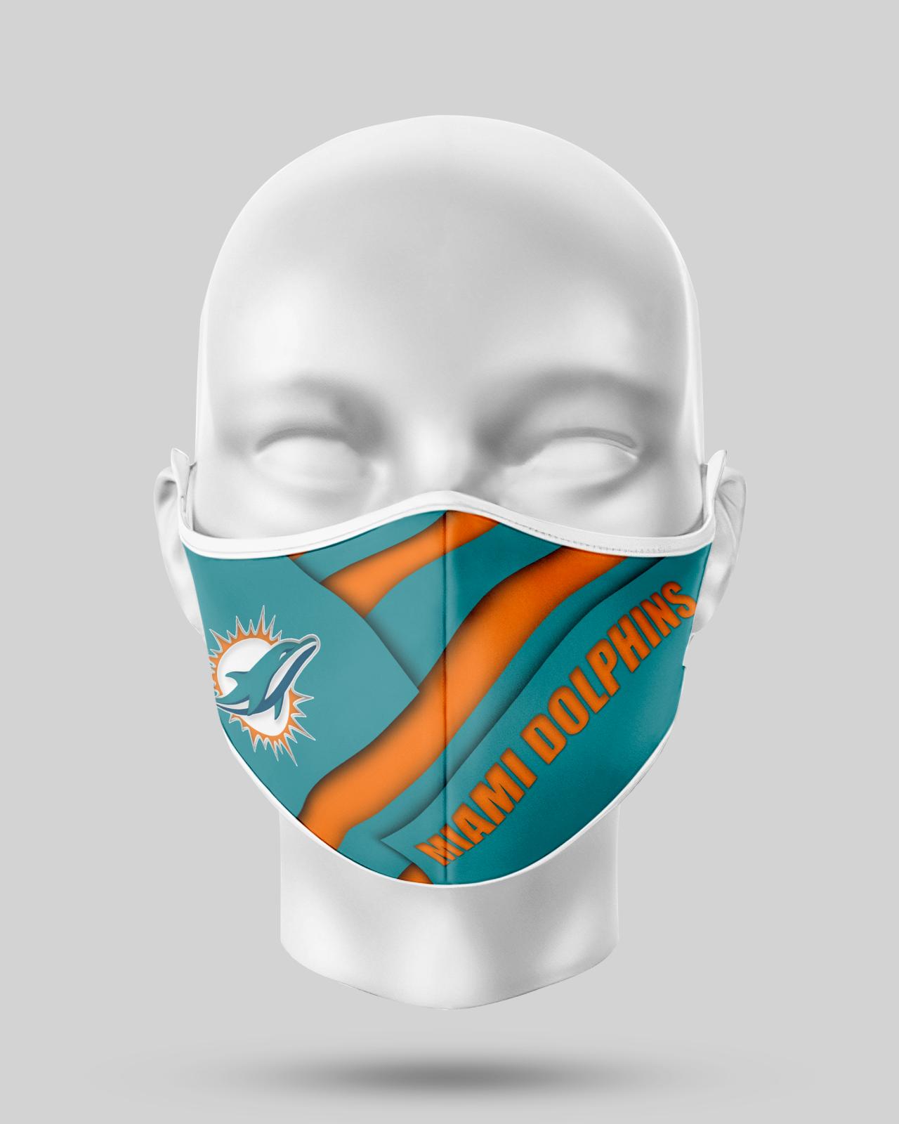 Miami Dolphins Face Shield1 - copy
