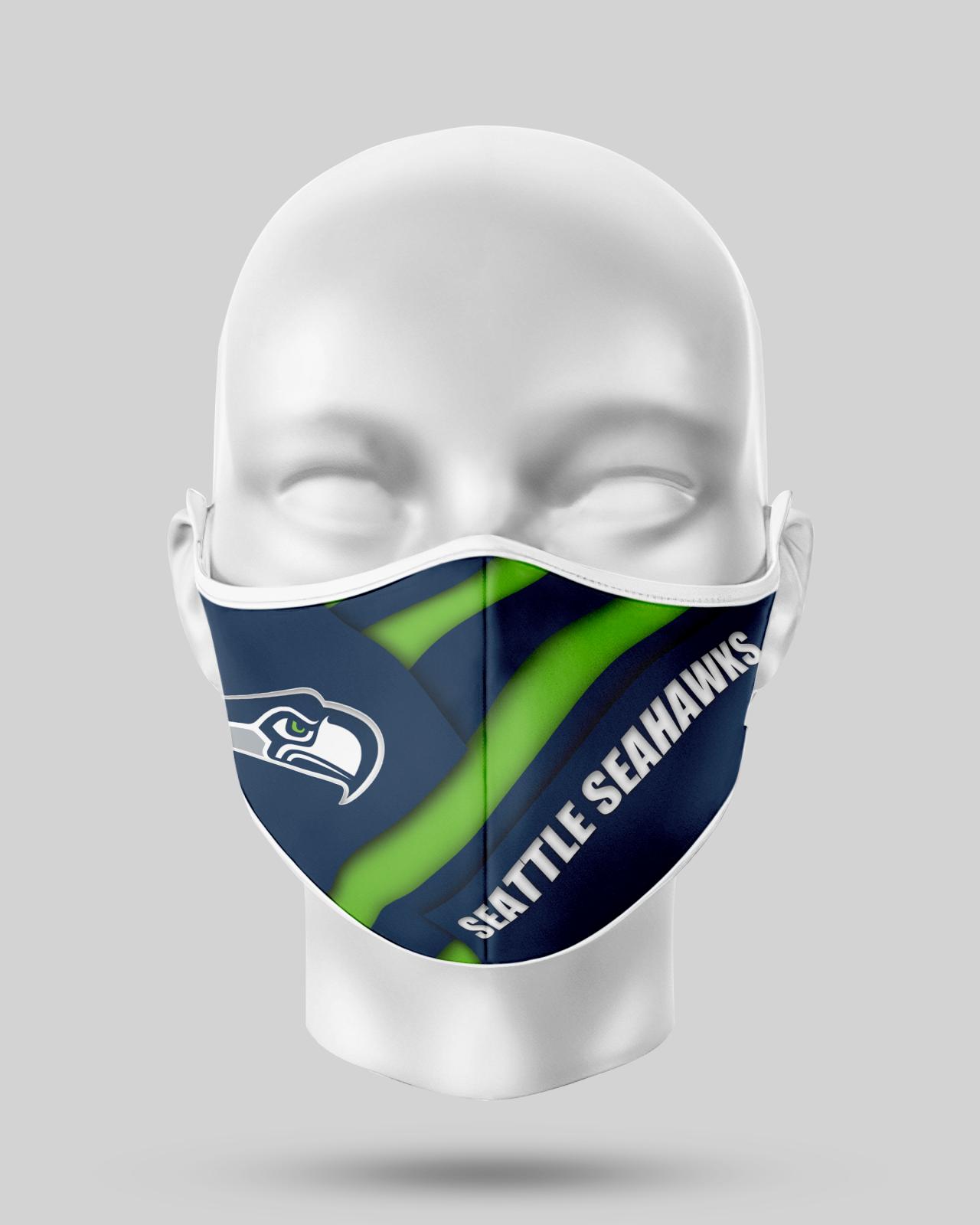Seattle Seahawks  Face Shield1