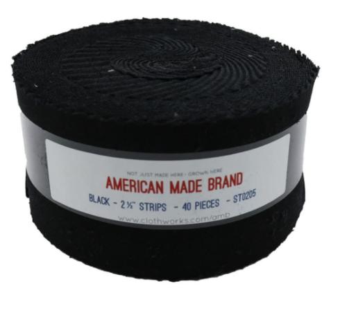 American Made Brand 2-1/2 Strips Black