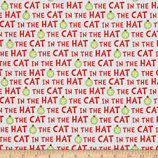 Cat in the hat Christmas words red