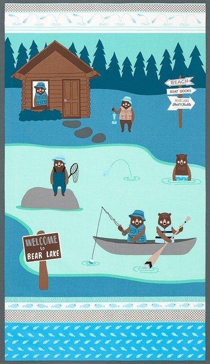 Brawney Bears Flannel Panel