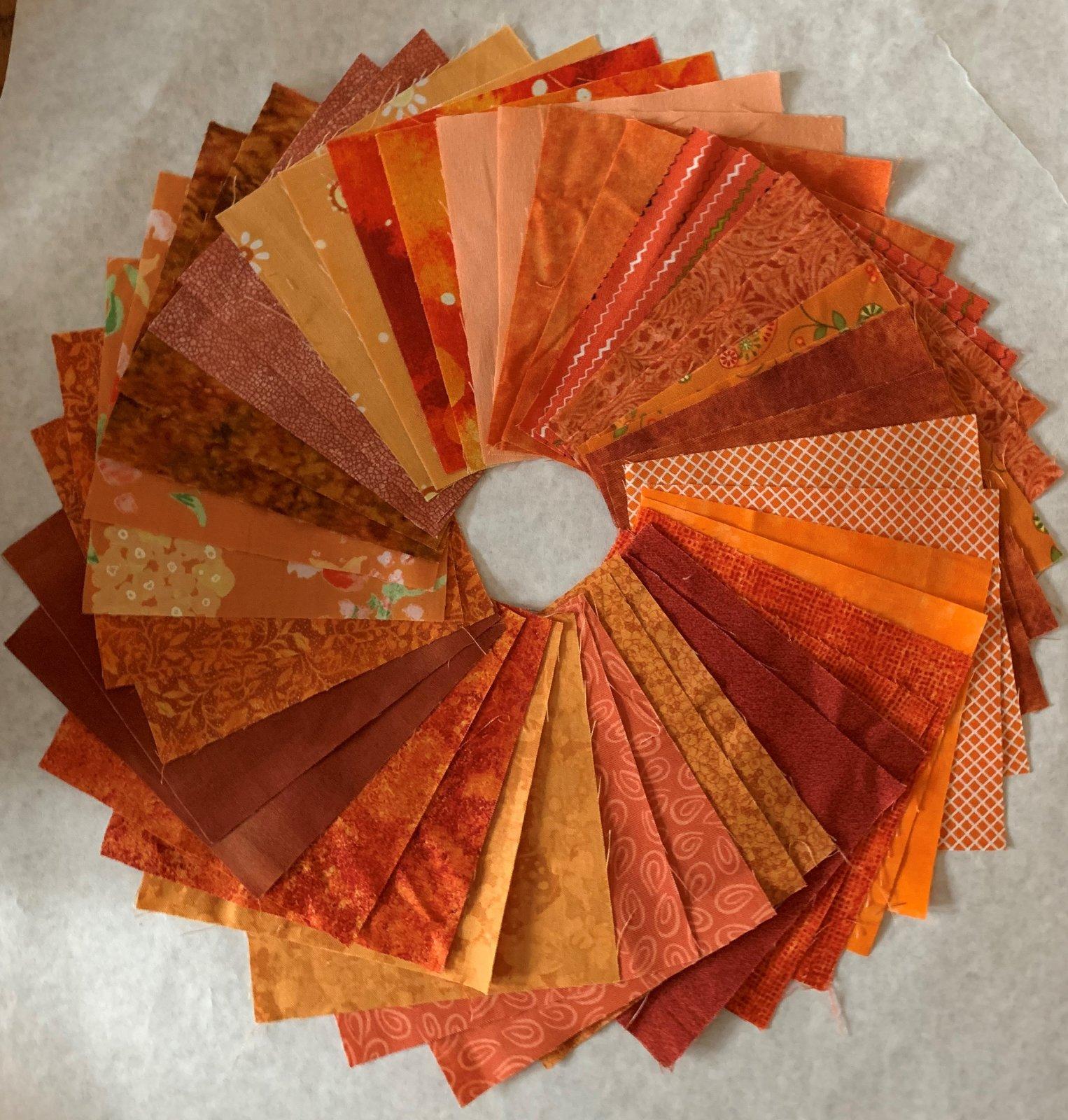 Orange 5 charms 2 each 42