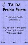 Ta-Da Fusible Interfacing Prairie Points 1-1/2in