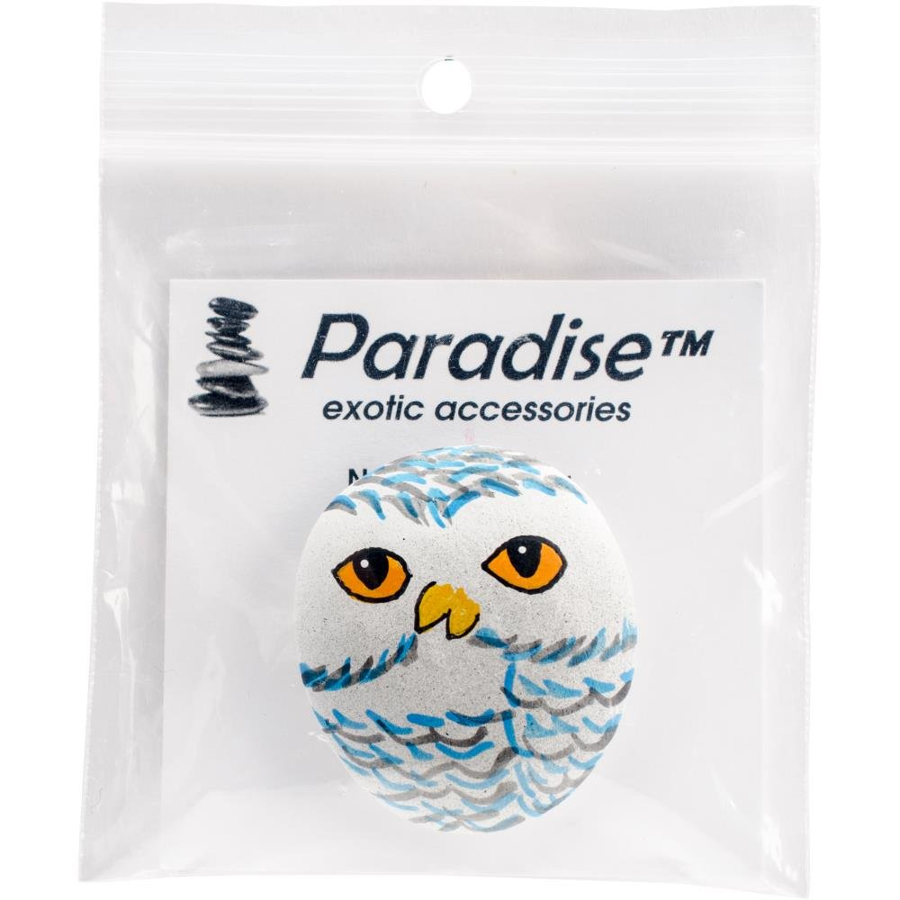 Paradise exotic accessories Wood  Owl NK117 needle minder