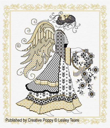 Lesley Teare Blackwork Angel
