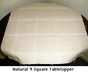 Dutch Treat Designs 9 Square Table Topper White/Opalescent Anne Cloth