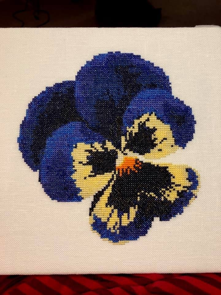 Fireside Originals Blue Pansy