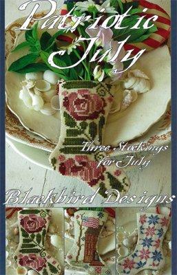Blackbird Designs Three Stockings: Patriotic July