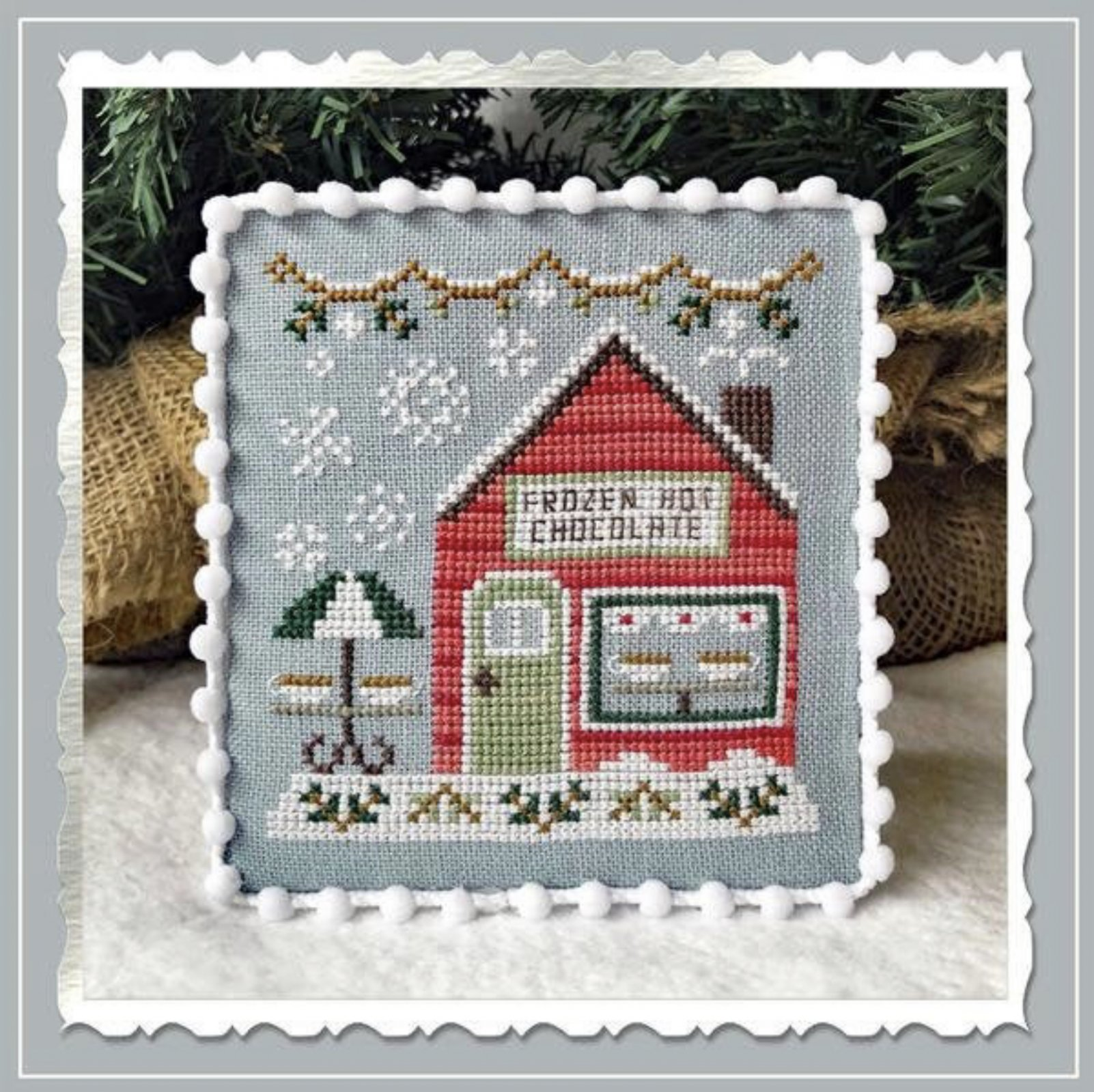Country Cottage Needleworks Snow Village: Frozen Hot Chocolate Shop 5 of 11