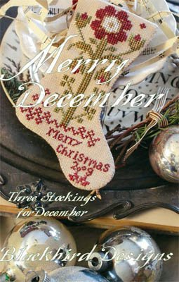 Blackbird Designs Merry December; Three Stockings for December