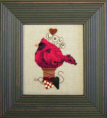 Art To Heart Lovebird w/buttons