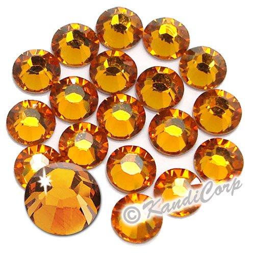 Swarovski Crystals 5mm Topaz (16 pieces)