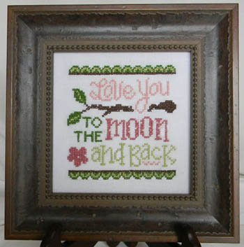 Cherry Hill Stitchery Love You to the Moon