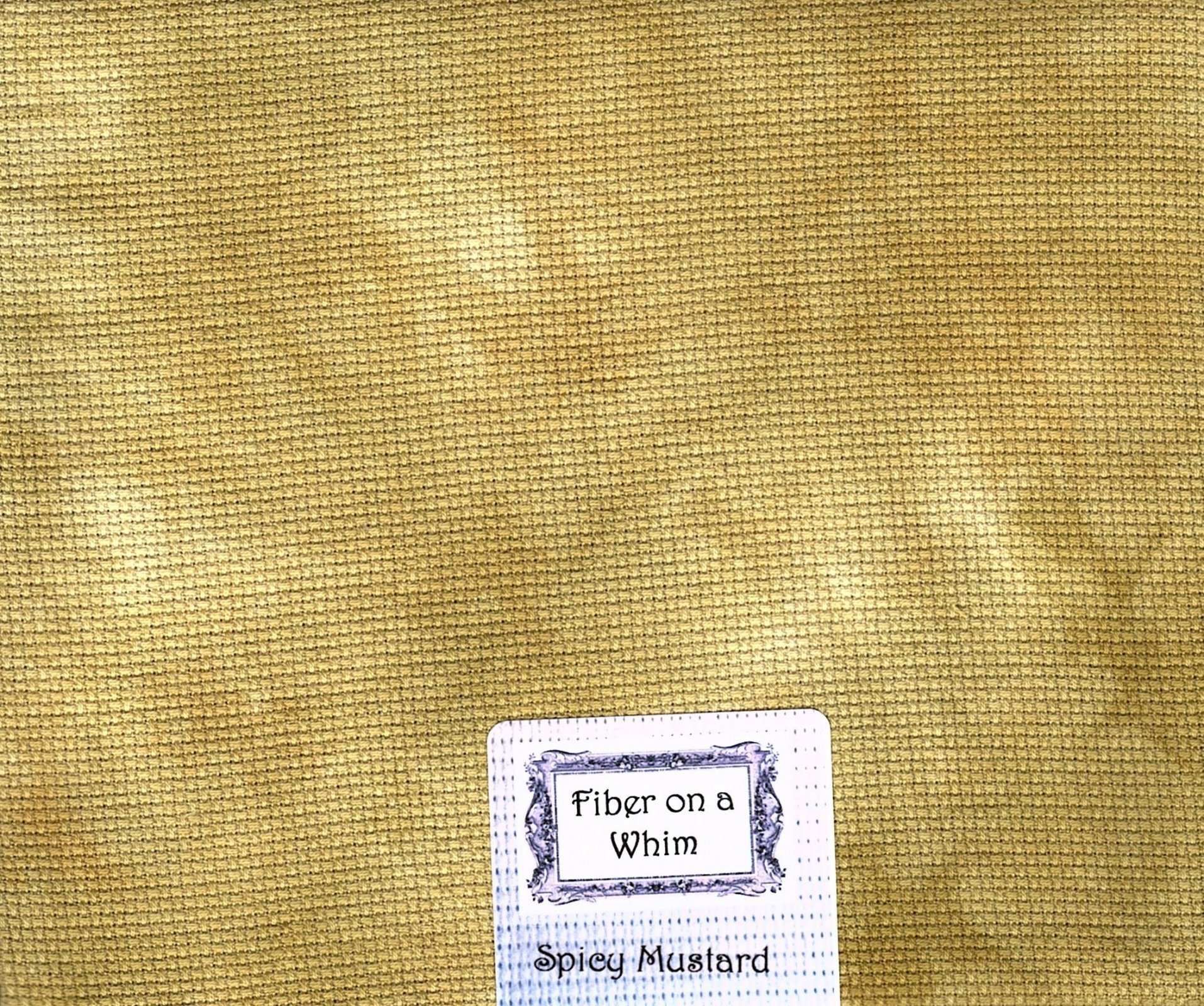 Fiber on a Whim 18x20 Spicy Mustard Aida 18ct