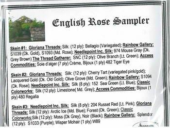 Jeannette Douglas Designs English Rose Sampler thread pack