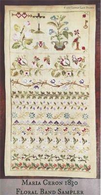 Lindsay Lane Designs Maria Ceron 1830 Floral Band Sampler