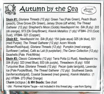 Jeannette Douglas Designs Autumn by the Sea 3 of 4 Thread Pack